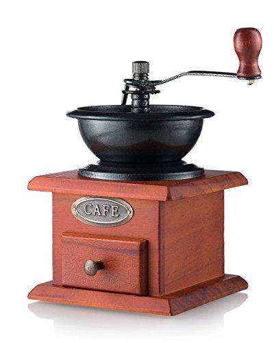 Hand Crank Coffee Grinder ~ Gourmia gcg manual coffee grinder artisanal hand crank