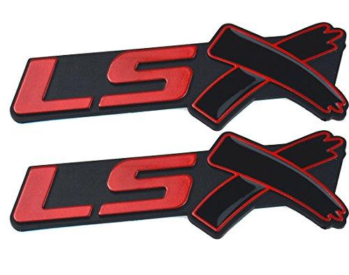 (Aimoll 2PCS LSX Side Fender Rear Lid Boot Trunk Emblem Badge for Chevy Camaro Corvette(Black)