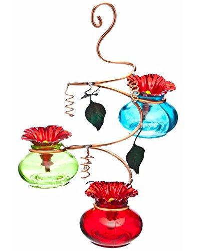 Perry's Vinester 3-Station Glass Hummingbird Feeder