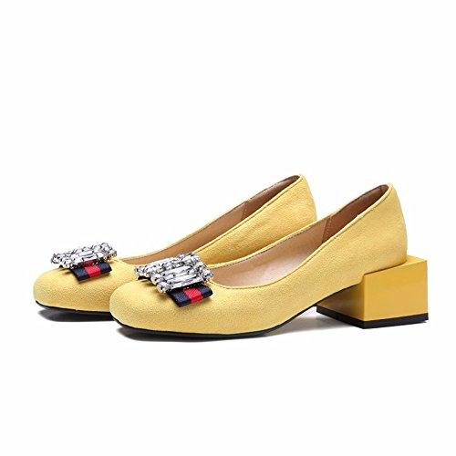 yellow solo zapatos señoras zapatos Vintage zapatos grandes PUwZTBnxqa