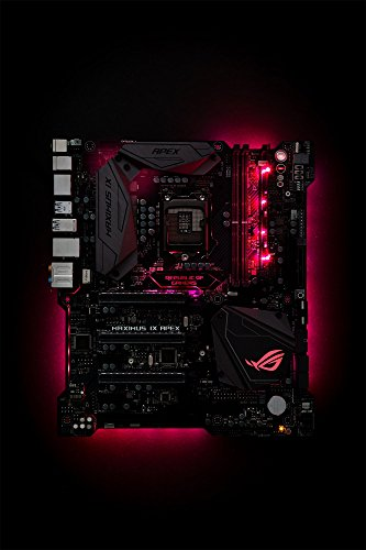 ASUS ROG Maximus IX Apex Motherboard(Aura Sync RGB LEDs, DDR4 4266MHz, DIMM.2 dual M.2 expansion card, and USB Type-A/C)