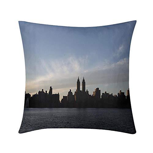 HooMore Luxury Custom Art Design Photos Throw Pillow Night Falling Over Eldorado High End Quality, High Printing Accuracy, Dust Mite ()