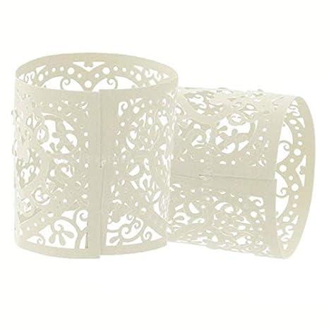 Blanc LAAT Abat-jour creux Bougeoir Lanternes Cage en Cr/éatif Bougeoir Romantique Lanterne Suspendue pour la Maison D/écoration de F/ête de Mariage 6 pcs size 4x4.5cm