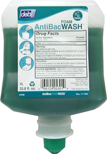 DEB AeroGreen™ Antibacterial Foam Soap - 1 L Cartridge - 57256 (Green Tip)