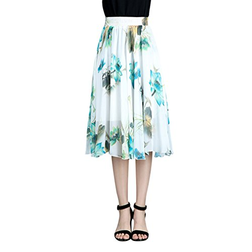 CHENYANG Mesdames Casual Jupe Longue Taille Haute Jupe Plisse Bohmienne Jupe vase Style11