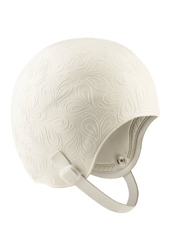 Speedo Latex Aqua Fitness Swim Cap with Strap, White, One - Cap Chin Strap With Swim