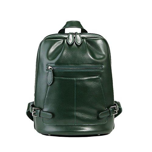 portés Vert 9002 Sac Girl Sac dos cuir femme en main main portés Sac E Sac épaule à portés LF fashion HgqBwBn6
