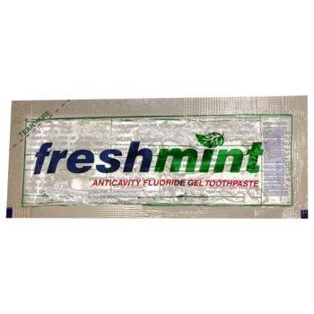 New World Imports CGP Freshmint Anticavity Fluoride Gel Toothpaste, Single Use Packet, Clear (Pack of 1000)