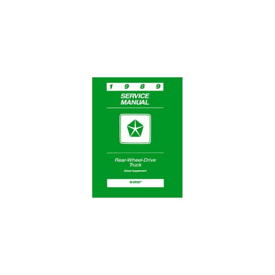 1989 Dodge Rwd Truck Diesel Engine Shop Service Repair Manual Book Engine OEM