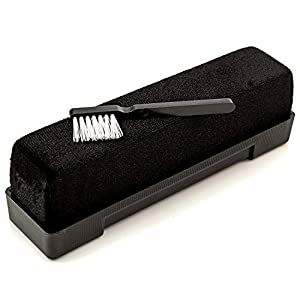 Record Cleaning Velvet Brush - with Anti Static Solution Fluid and Stylus Cleaner by Record-Happy. Extend Life, Improve Fidelity and Keep your Prized Vinyl Collection LPs like New !