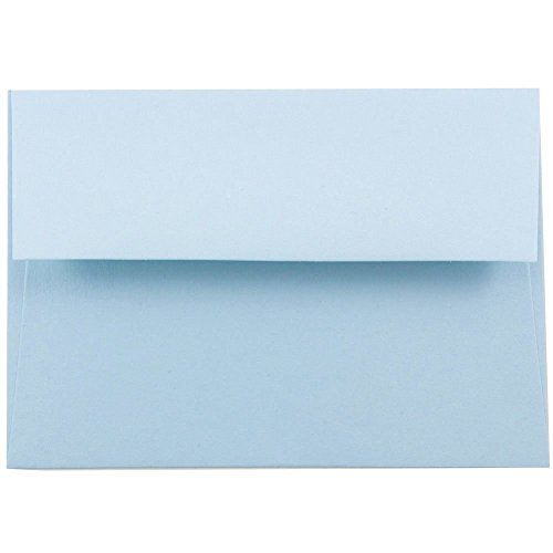 JAM Paper A7 Invitation Envelope - 5 1/4'' x 7 1/4'' - Light Baby Blue - 1000/carton by JAM Paper