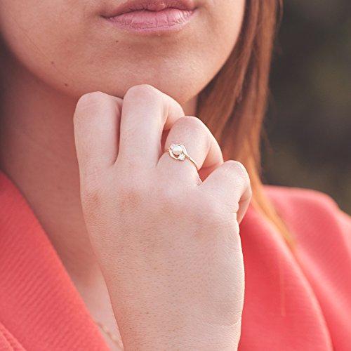 Conjunto juego niña oro amarillo 18 ktes 1ª Comunión anillo y pendientes perlas y circonitas