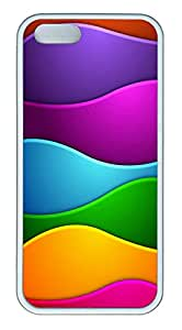 iPhone 5s Case, iPhone 5s Cases - Patterns Color Waves TPU Polycarbonate Hard Case Back Cover for iPhone 5s¨CWhite