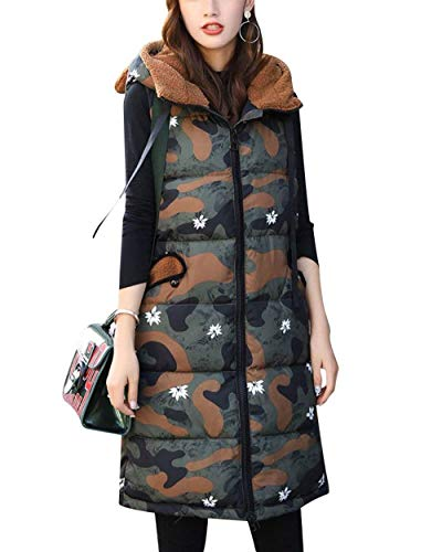 Con Cremallera Outerwear Elegante Caliente Mujer Abrigos Vest Casuales Acolchado Invierno Mangas Largos Sin Chaleco Ropa Encapuchado Tarnung Chaqueta xqHIBXx