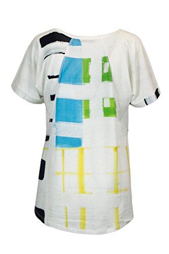 Blanc shirt Ariadne Femmes Graphic T Tee 18swtkdv Ts Desigual AwqFpF