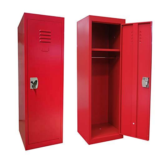 Kids Storage Locker SteelSafe Storage Kids Toy Gym Room Locker Keeper(RED)