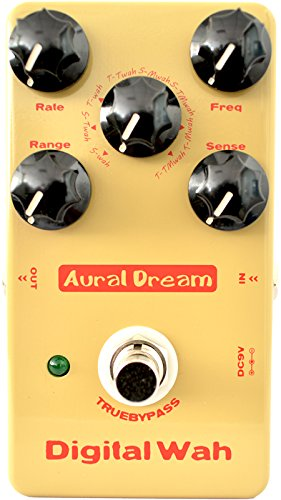 Aural Dream Digital Wah Guitar Effect Pedal including 8 Auto WahWah and Multiple Wah Effects with large dynamic adjustment True bypass ass by Aural Dream