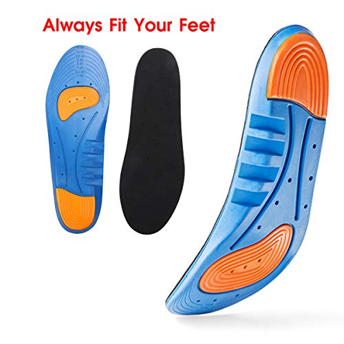 - Sports Gel Insoles and Shoe Inserts for Women and Men Breathable Cushion with Small Holes, Sizes 9-13 by HLYOON(L)