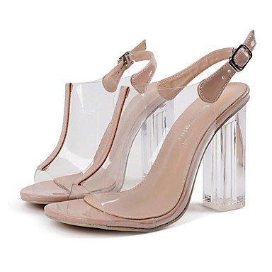 LvYuan Tacón Robusto-Confort Innovador Gladiador Zapatos del club-Sandalias-Boda Exterior Oficina y Trabajo Deporte Fiesta y Noche Vestido almond