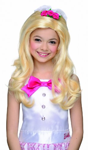 Child Barbie Bride Wig with Attached Veil, Costume (Barbie Costumes For Kids)