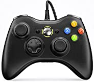 VOYEE Wired Controller Compatible with Microsoft Xbox 360 & Slim/PC Windows 10/8/7, with Upgraded Joystick