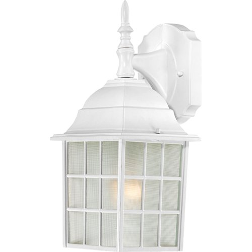 Nuvo Lighting 60/4904 Adams One Light Wall Lantern/Arm Down 100 Watt A19 Max. Frosted Glass White Outdoor (Best Nuvo Wall Light Fixtures)