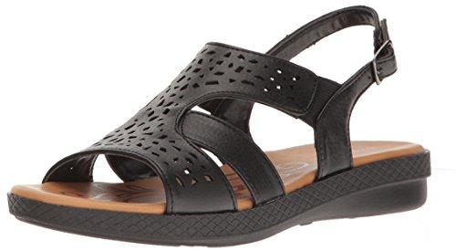 Street Black Flat Bolt Sandal Easy Women's TdgwaqTP