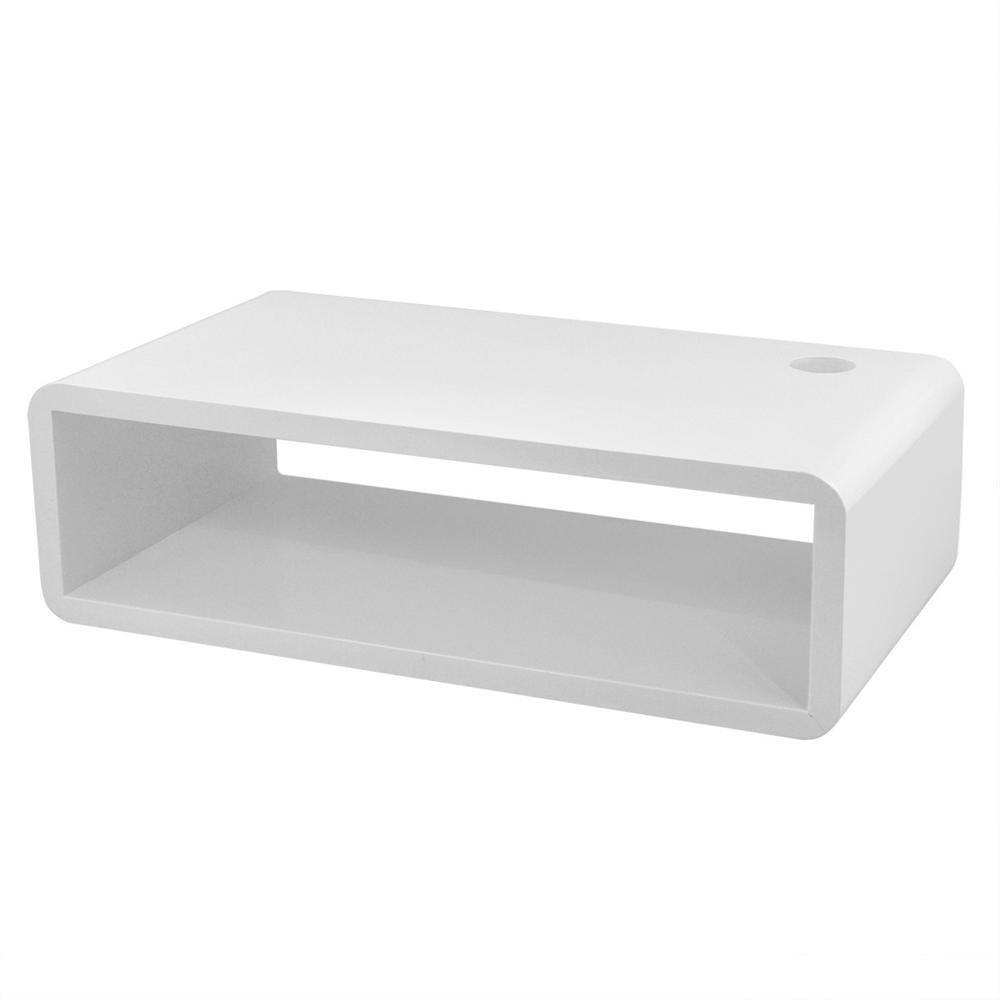 Popamazing White Floating Wall Mount Shelf Cube Sky Box DVD HIFI Unit Shelf  50x15x27cm Shelve Storage Rank: Amazon.co.uk: Kitchen U0026 Home
