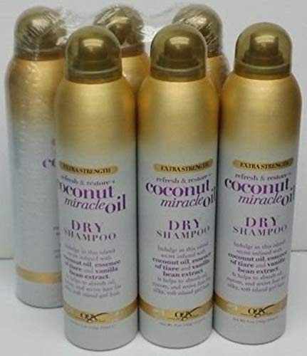 Ogx Shampoo Dry Coconut Miracle Oil 5 Ounce Extra Strength (235ml) (6 Pack) by OGX