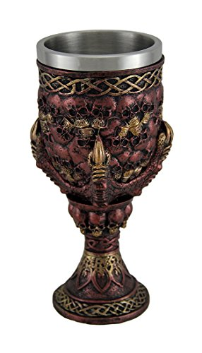 Clutch of the Beast Dragon Claw & Skull Copper Finish Wine Goblet