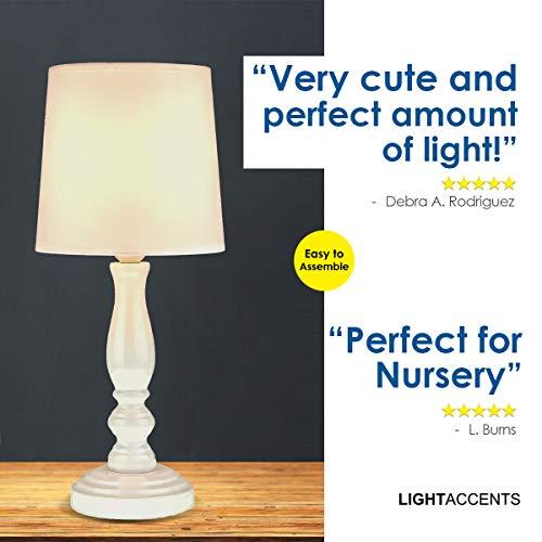 Amazon.com: Lámpara de mesa, color blanco, con forma ...