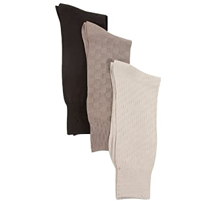 Calvin Klein Men Microfiber Textured Dress Socks - 3 Pack