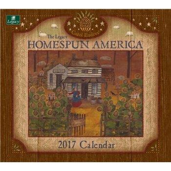 2018 Homespun America Wall Calendar - Legacy {jg} Great Holiday Gift Ideas - for mom, dad, sister, brother, grandparents, gay, lgbtq, grandchildren, grandma.