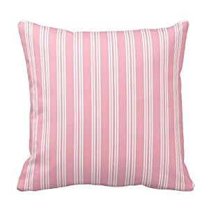 Generic Custom Cherry Blossom Pink Chelsea Stripe Pillow Covers