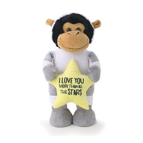Burton & Burton 9731871 Plush Love You More Astronaut Monkey Plush Toys