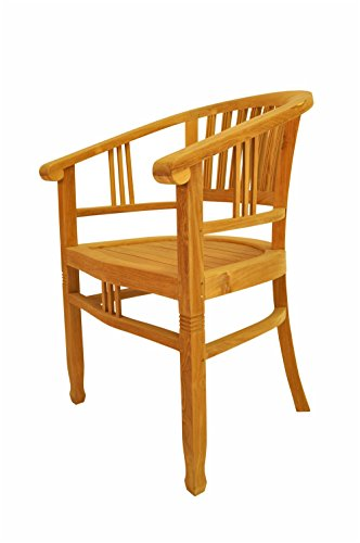 Anderson Teak CHD-044 - No Cushion Captain's Armchair by Anderson Teak