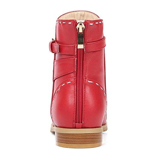 arranque al temporadas red de H cuero 41 HCuatro antideslizante corto XIAOGANG de rojo goma capa principal de resistencia de Negro bajo desgaste cinturón tacón mujeres la hebilla de de EUqpxnpT4