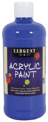 Sargent Art 24-2447 16-Ounce Acrylic Paint, Royal Blue