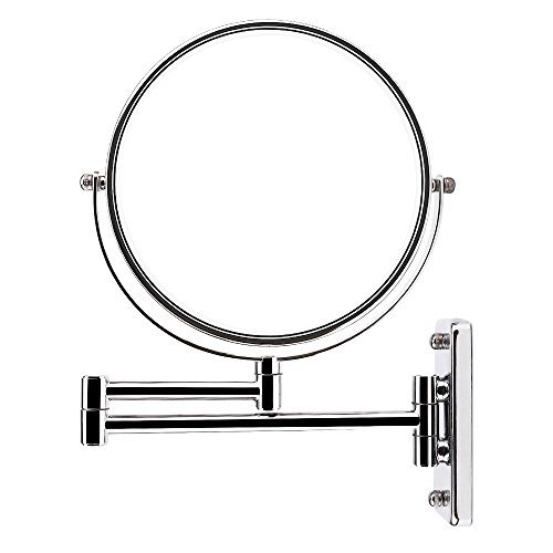 AlierKin 7-Inch Two-Sided Extension Wall Mount Makeup Mirror with 7x Magnification,Chrome Finish by AlierKin
