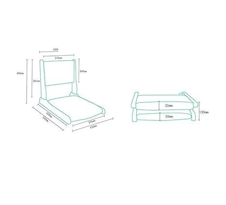 Amazon.com: Silla de piso acolchada plegable con respaldo ...