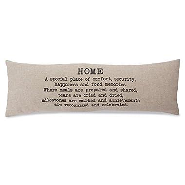 Mud Pie 4165021 Sentiment Home Definition Long Lumbar Accent pillow