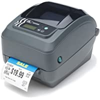 Zebra GX42-102512-000 GX420T Direct Thermal/Thermal Transfer Printer, Monochrome, 7.5 H x 7.6 W x 10 D, With Parallel/Serial/USB Connections and Cutter
