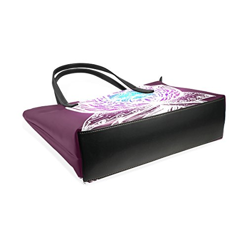Bags Women's Fashion PU Top Purses Flower Handle Handbag Lotus TIZORAX Totes Shoulder Leather vwCqTnREx