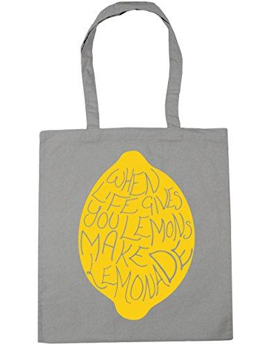 litres make Tote you life Bag x38cm Light Shopping HippoWarehouse 42cm lemonade Gym Grey gives when lemons 10 Beach fnqnSAZt