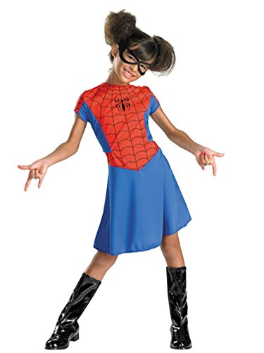 [Disguise Women of Marvel Girls Red Spider Girl Costume Spidergirl Dress S (4-6)] (Red Spider Girl Costumes)