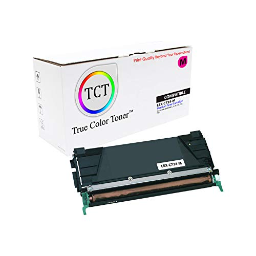 (TCT Premium Compatible Toner Cartridge Replacement for Lexmark C734 C734A1MG Magenta Works with Lexmark C734 C736 C738 X734 X736 Printers (6,000 Pages))