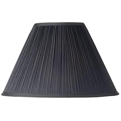 Black Mushroom Pleated Lamp Shade 7x17 x11.5 (Spider) - Springcrest