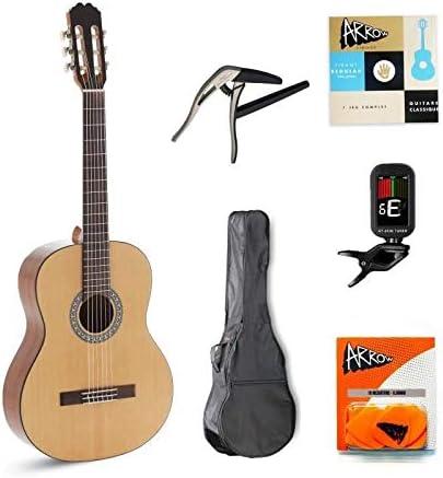 ALVARO Complete Pack Guitarra Cl�sica ALBA Natural: Amazon.es: Instrumentos musicales