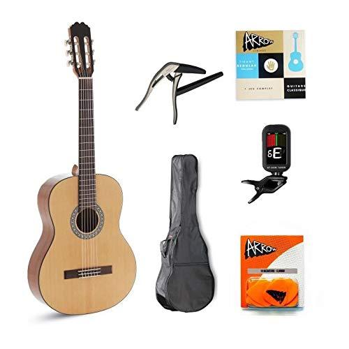 ALVARO Complete Pack Guitarra Cl�sica ALBA Natural: Amazon.es ...