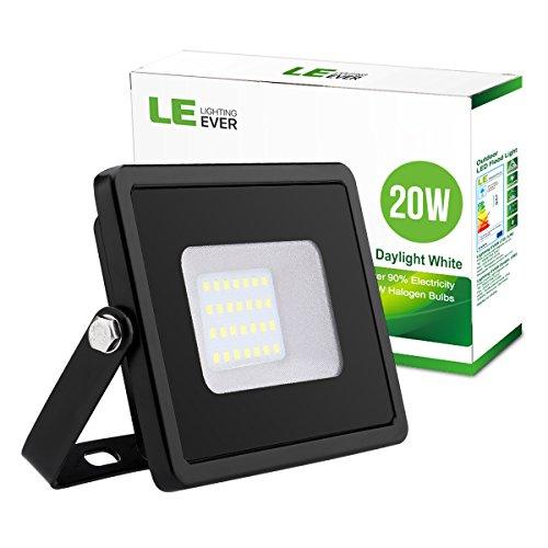 LE 20W LED Floodlight, 1600 Lumen, 200W Halogen Equivalent Flood Light,...